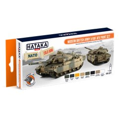 HATAKA HTK-CS77 Modern British Army & RAF AFV paint set (8 x 17 ml)