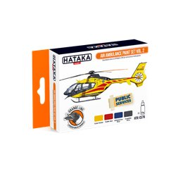 HATAKA HTK-CS79 Air Ambulance paint set vol. 2 (4 x 17 ml)