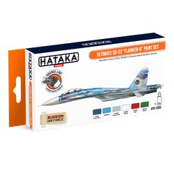 "HATAKA HTK-CS83 Ultimate Su-33 ""Flanker-D"" paint set (6 x 17 ml)"