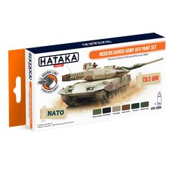HATAKA HTK-CS84 Modern Danish Army AFV paint set (6 x 17 ml)
