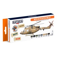 HATAKA HTK-CS87 British AAC Helicopters paint set (8 x 17 ml)