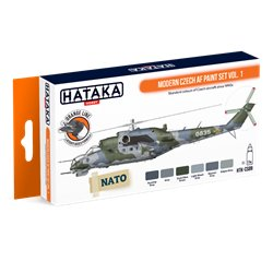 HATAKA HTK-CS89 Modern Czech AF paint set vol. 1 (6 x 17 ml)