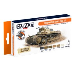 HATAKA HTK-CS90 German AFV in Africa paint set (6 x 17 ml)