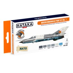 HATAKA HTK-CS91 Modern Romanian AF paint set vol. 1 (6 x 17 ml)