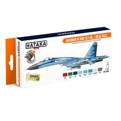 HATAKA HTK-CS96 Ukrainian AF paint set vol. 1 (Blue Pixel) (8 x 17 ml)