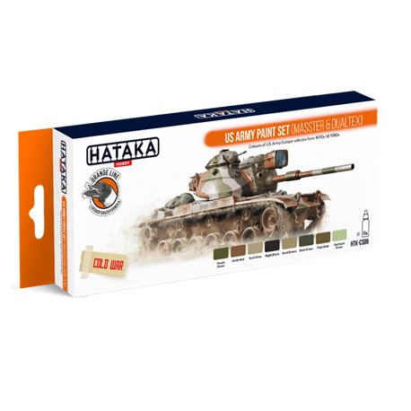 HATAKA HTK-CS99 US Army paint set (MASSTER & DUALTEX) (8 x 17 ml)