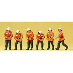 Preiser 10242 Figurines HO 1/87 Pompiers en action - Firemen in action