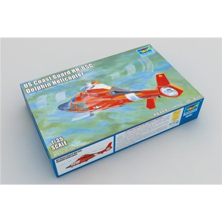 TRUMPETER 05107 1/35 US Coast Guard HH-65C Dolphin Helicopter*