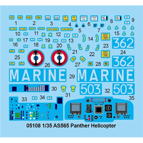 TRUMPETER 05108 1/35 AS565 Panther Helicopter*
