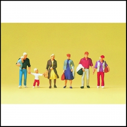 Preiser 10517 Figurines HO 1/87 Voyageurs marchants - Walking travellers