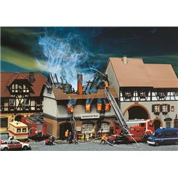 FALLER 130429 HO 1/87 Zur Sonne Burnt-down restaurant