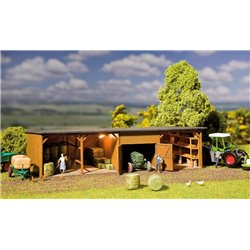 FALLER 130523 HO 1/87 Hay bale store with workshop