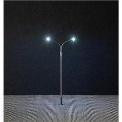 FALLER 180201 HO 1/87 Éclairage public LED deux bras - Street lightin two arms