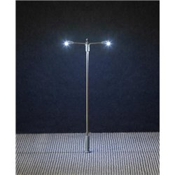 FALLER 180203 HO 1/87 LED Street lighting, pole-integrated lamp, two arms