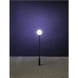 FALLER 180204 HO 1/87 Réverbère de parc LED, lampe boule rapportée