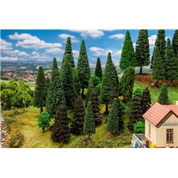 FALLER 181530 HO 1/87 30 Mixed forest trees, assorted
