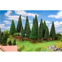 FALLER 181542 HO 1/87 15 Sapins, grand - 15 Firs, large