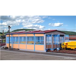 KIBRI 39450 HO 1/87 Hangar à Loco motives - Loco shed, tripple track