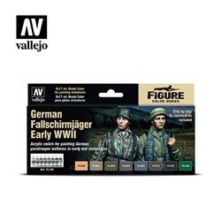 VALLEJO 70.185 Model Color Set German Fallschirmjäger Early WWII 8 color set 17 ml.