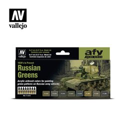 VALLEJO 71.613 Russian Greens (1928's to Present) 8x17ml