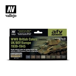 VALLEJO 71.614 WWII British Colors UK/BEF/Europe 1939-1945 8x17ml