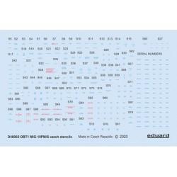 EDUARD EX652 1/48 Masking Tape Aero L-39MS/L-59 TFace For Trumpeter