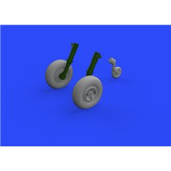 EDUARD 648468 1/48 Spitfire Mk.XIV wheels - 4spoke for Airfix A05135