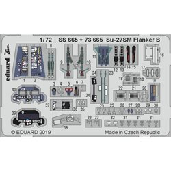 EDUARD SS665 Photo Etched 1/72 Su-27SM Flanker B for ZVEZDA 7295 – 7314