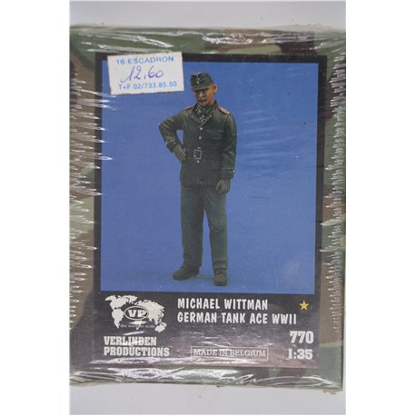 VERLINDEN PRODUCTIONS 770 1/35 Michael Wittman - German Tank Ace Wwll