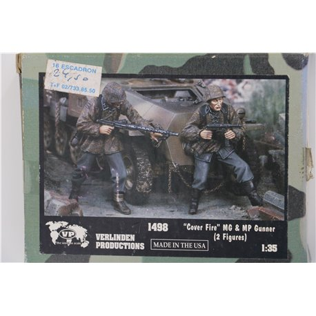 VERLINDEN PRODUCTIONS 1498 1/35 Cover Fire MG Gunner & MP Gunner