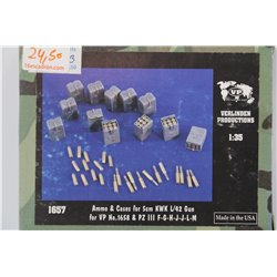 VERLINDEN PRODUCTIONS 1657 1/35 Ammo & Cases KwK L/42 Gun Pz.III F-G-H-J-L-M