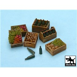 BLACK DOG T48011 1/48 FOOD SUPPLIES 2 accessories set