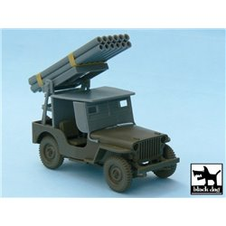 BLACK DOG T48027 1/48 JEEP with rocket launcher conversion set for Tamiya 32552