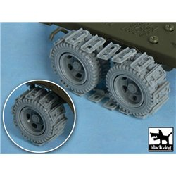 BLACK DOG T48049 1/48 US 1 1/2 ton Cargo Truck Traction devices for Tamiya 32548