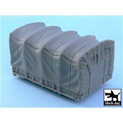 BLACK DOG T48050 1/48 US 1 1/2 ton Cargo Truck cargo bay canvas for Tamiya 32548