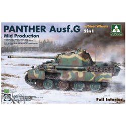 TAKOM 2120 1/35 Panther G Mid Production with Steel Wheels 2 in 1