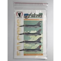 MICROSCALE 32-58 1/32 F-16A & F-16N USN 1'ST F-16, 401 TFW 1986