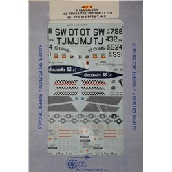 SUPERSCALE 48-0278 F-16A Falcon 13TFS 17TFS 612TFS 1/48