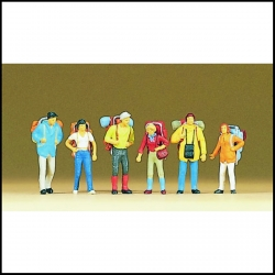 Preiser 10113 Figurines HO 1/87 Jeunes voyageurs - Young travellers