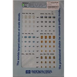 MICROSCALE 72-308 1/72 Badges of the 80th, 35th, 433rd, 435th & 497th FTS and the 8th TFW