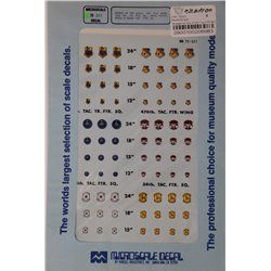 MICROSCALE 72-321 1/72 Badges of the 474th TFW, 16th/34th/421st/428th/429 TFS