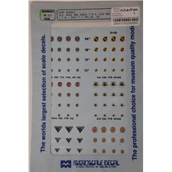 MICROSCALE 72-327 1/72 USAF Badges 3rd, 90th & 430th TRS 3rd and 4th TFW 26th TF AG SQ