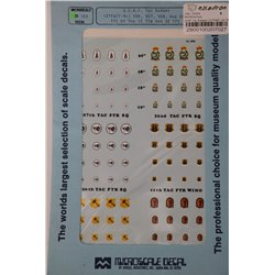 MICROSCALE 72-359 1/72 USAF TAC Badges 12th TFW (F-4C) 556, 557, 558 and 559 TFS's and 32nd TFS