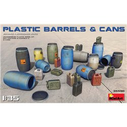 MINIART 35590 1/35 Plastic Barrels & Cans