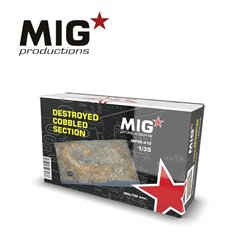 MIG PRODUCTIONS MP35-410 1/35 DESTROYED COBBLED SECTION 200X130mm