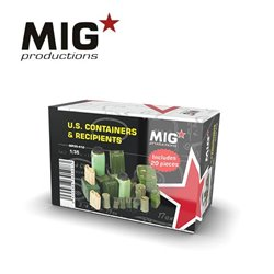 MIG PRODUCTIONS MP35-412 1/35 U.S. CONTAINERS & RECIPIENTS 20pcs