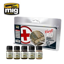 AMMO BY MIG A.MIG-7448 FIRST AID BASIC PIGMENTS 5x30ml
