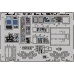 EDUARD 33096 Photo Etched 1/32 Harrier GR. Mk.7 interior S. A. For Trumpeter