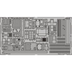 EDUARD 36142 Photo Etched 1/35 M-7 Mid production interior For Dragon