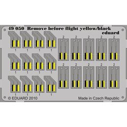 EDUARD 49050 Photo Etched 1/48 Remove Before Flight - yellow/ black